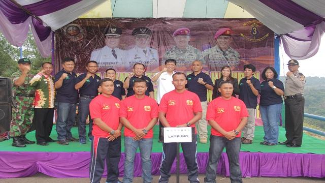 Brigif-3 Marinir Dan Faji Pemprov Lampung Gelar Kejuaraan Arung Jeram Tingkat Nasional