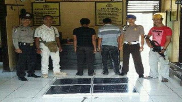Polisi Amankan Pelaku Pencuri Lampu Jalan