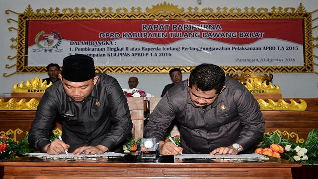 Rapat Paripurna DPRD Kabupaten Tulang Bawang Barat