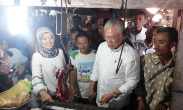 Menteri Perdagangan RI. Meninjau Pasar Tradisional Lamtim