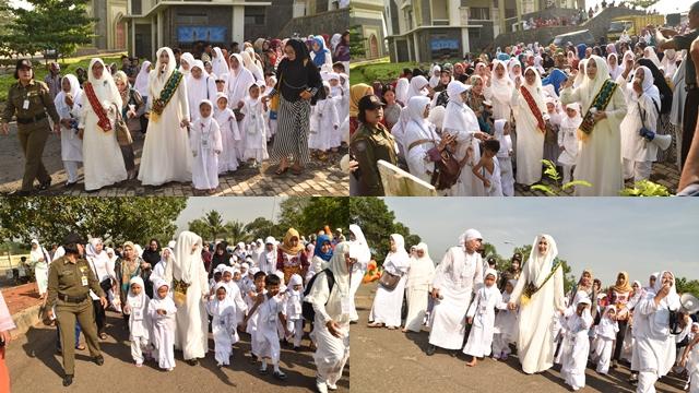 Bunda Paud Lampura Bimbing Anak-Anak Pembelajaran Manasik Haji