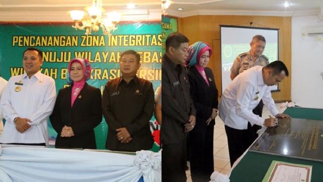 Pencanangan ZI-WBK Provinsi Lampung