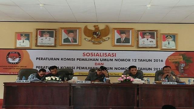 Komisioner KPUD Mesuji Gelar Sosialisasi Jelang Pilkada