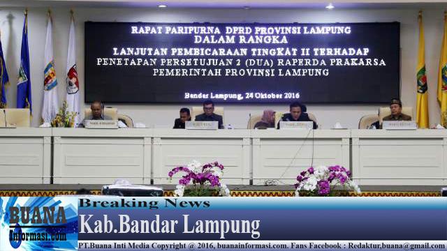 Bachtiar Basri Apresiasi Dua RAPERDA Pembangunan Industri Provinsi Lampung