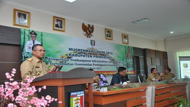 Sekdaprov Berikan Arahan Pada Musrenbang Kabupaten Pringsewu 2018