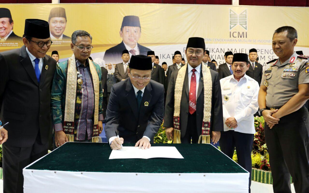 Prof. Dr. Jimly Asshiddiqie, S.H. Lantik ICMI Se-Indonesia Orwil Lampung