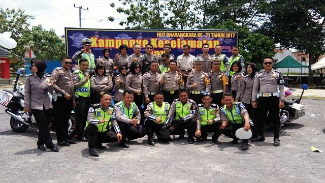 Kampanye Keselamatan dan Safety Riding Polres Lampung Timur