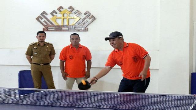HUT Provinsi Lampung ke-53, ASN Antusias Ikuti Tournamen Futsal dan Tenis Meja