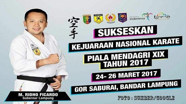 Lampung Tuan Rumah Kejurnas Karate Mendagri XIX