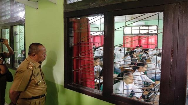 Wagup Tinjau Plaksanaan Ujian Di Sejumlah Sekolah Menengah Kejuruan Di Bandar Lampung