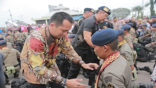 Operasi Tinombala,106 Anggota Satuan Brimob Polda Lampung diLepas ke Sulawesi Tengah