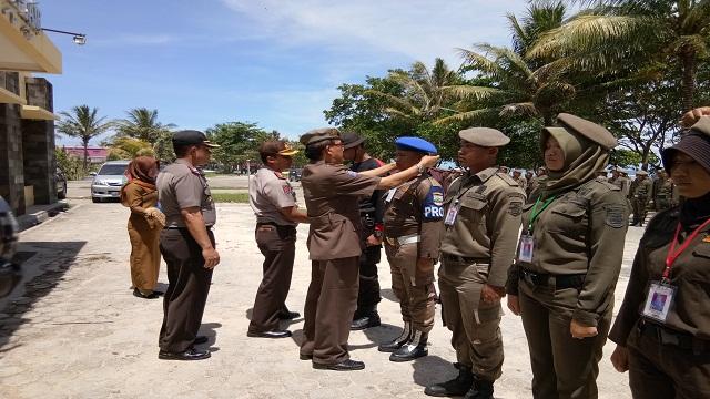 Bupati Tutup Pelatihan kesemaptaan Sat Polpp Kabupaten Pesisir Barat