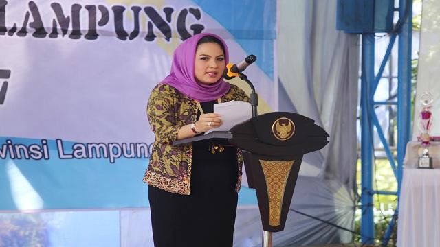 Gemarikan 2017, Ketua TP PKK Himbau Dan Ajak Masyarakat Lampung Tingkatkan Konsumsi Ikan