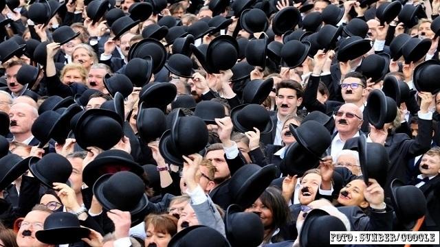 Ratusan Charlie Chaplin berkumpul di Swiss