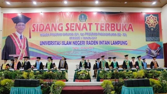 Sidang Senat Terbuka Wisuda Sarjana UIN , Mukri Apresiasi Kinerja Gubernur Lampung