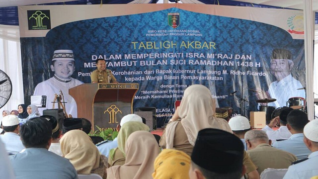 Gubernur Lampung Berikan Bantuan Kepada Warga Lapas Perempuan Way Hui
