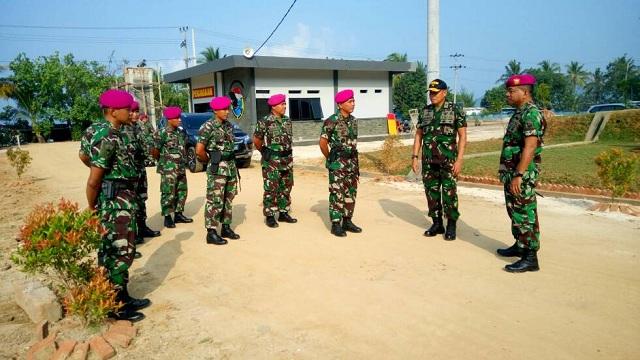 KAS Kormar Tinjau Kesiapan Gedung Mako Yonif-7 Mar dan Latihan TW II di Lampung.