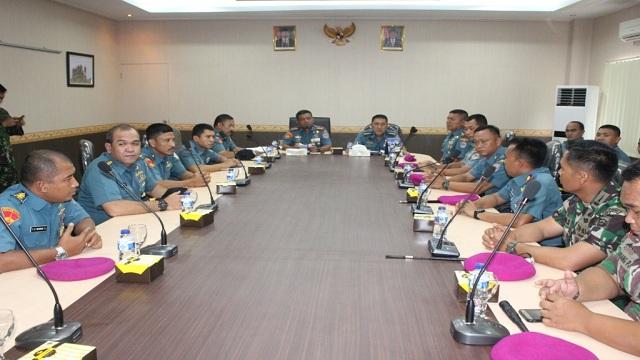 Pasis Seskoal Dikreg Angkatan Ke-55 Kunjungi Mako Brigif-3 Marinir