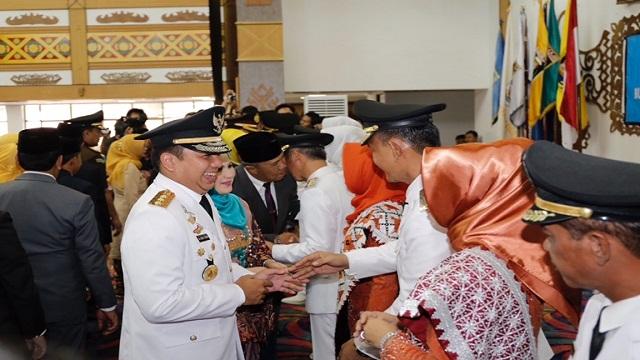 Lantik Kepala Daerah, Gubernur Lampung : Tugas Bupati dan Wakil Bupati Jalankan Roda Pemerintahan