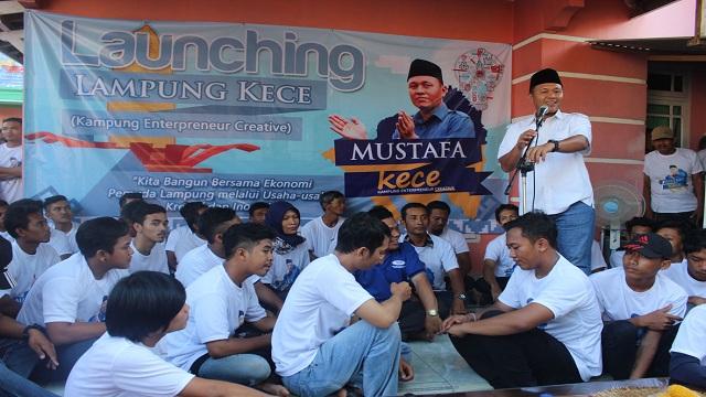 Launching Kampung KECE, Mustafa Gelorakan Semangat Pemuda Berwirausaha