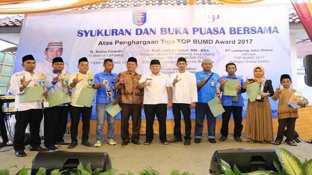 Gubernur Ridho: Anugerah TOP BUMD 2017 Awal Kebangkitan PT Lampung Jasa Utama