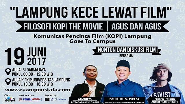 """19 Juni, KOPi Lampung Gelar Acara Nonton dan Diskusi film Dengan Bertajuk """"Lampung KECE Lewat Film""""."""
