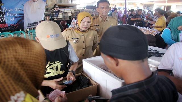 Gelar Pasar Murah,Pemprov Lampung Terus Tekan Harga kebutuhan Pokok Selama Ramadhan dan Hari Raya